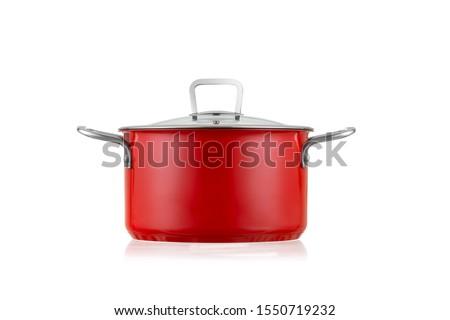 Pots Cookware Wok pot cooking utensils Foto stock ©