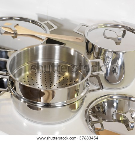 Pots to cook - stock photo
