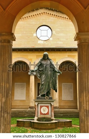 POTSDAM, GERMANY - JULY 27: World Church in Sanssouci Palace. Sanssouci Palace was the summer residence of Frederick the Great. The temple later became his tomb; July 27, 2012 in Potsdam, Germany.