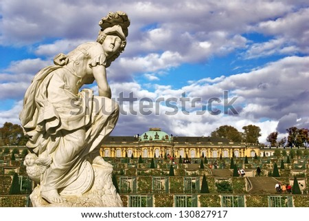 POTSDAM, GERMANY - OCTOBER 24: Sanssouci is the name of the former summer palace of Frederick the Great, King of Prussia, in Potsdam, near Berlin, October 24, 2006.