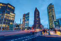 Potsdamer Platz (english: Potsdam Square) is the financial district of Berlin, Germany