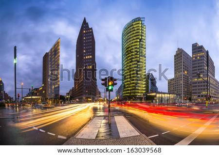 Potsdamer Platz is the financial district of Berlin, Germany. Stock foto ©