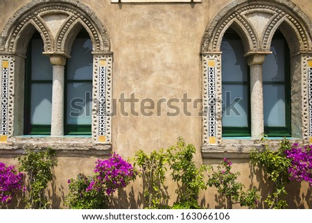 Potted plants outside a building, Ravello, Amalfi Coast, Salerno, Campania, Italy