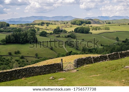 Potter Fell is a fell near the villages of Burneside and Staveley, Cumbria, England. A number of tarns are present on the fell, including Gurnal Dubs Tarn and Potter Tarn. Stock photo ©