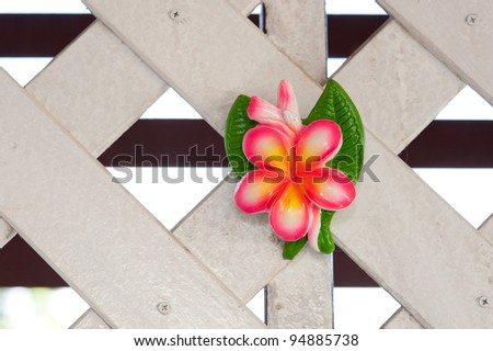 Pottery ceramic flower leaf on wall