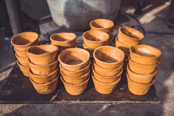 Pottery craft handmade ceramic crockery