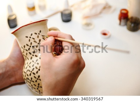 Shutterstock Pottery. Painting pottery.