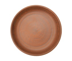 Pottery plate isolated on a white background