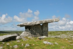 Poulnabrone Portal Dolmen is an ancient stone tomb in Ireland