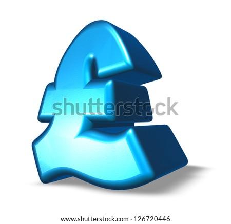 pound sterling symbol on white background - 3d illustration