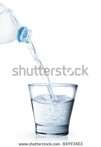 Pour water in glass