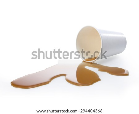 Poured out coffee. Coffee stains #294404366