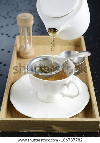 Pouring a Cup of English tea