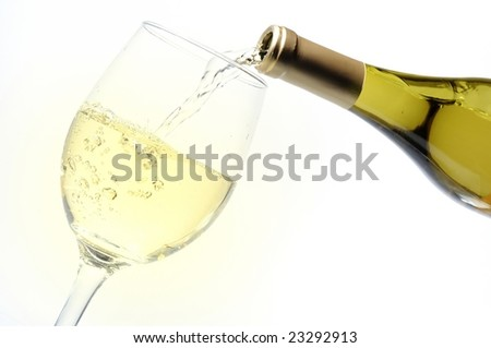 pouring alcohol into a glass