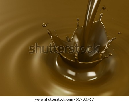 Pouring chocolate or cocoa - stock photo