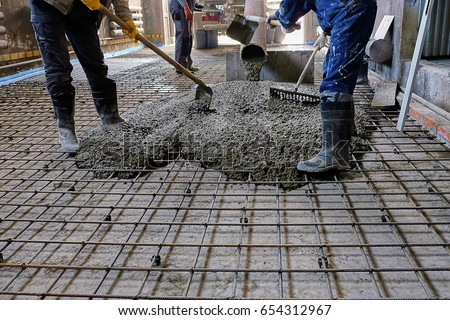 pouring concrete slab #654312967