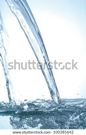 pouring water  fresh watersplash
