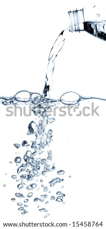pouring water from a bottle
