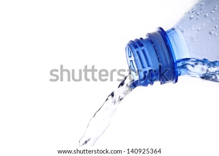pouring water from water bottle
