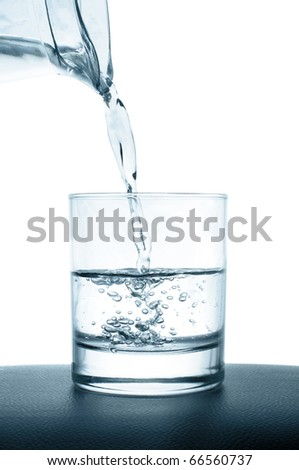 pouring water glass