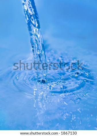 Pouring water stream abstract background