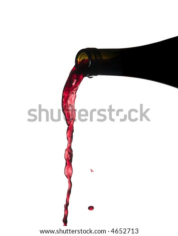pouring wine - stock photo