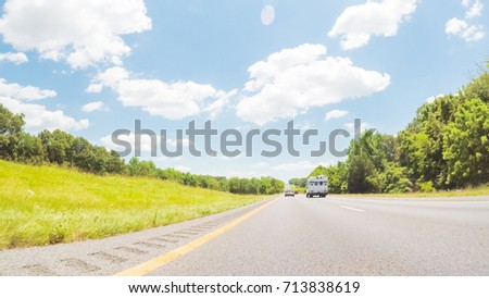 POV point of view - Driving East on Interstate Highway 24 through Kentucky. #713838619