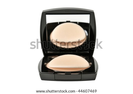 powder-box isolated on a white