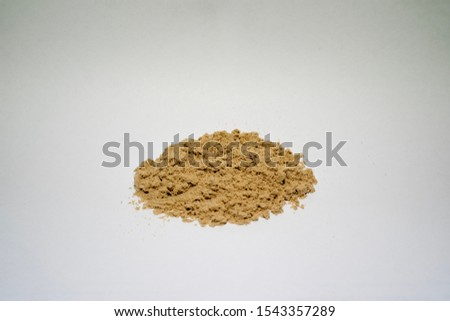 Powder of whey protein concentrate.