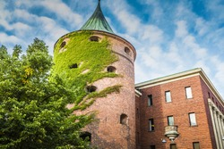 Powder Tower (Pulvertornis, circa XIV c.) in Riga, Latvia. Since 1940 included to the structure of the Latvian War Museum. World Heritage Site of UNESCO