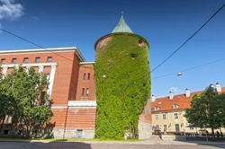 Powder Tower (Pulvertornis) in Riga, Latvia. Since 1940 included to the structure of the Latvian War Museum.
