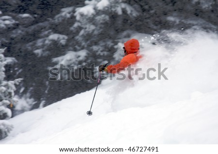 Powder trail