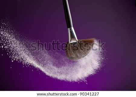 powderbrush on purple background