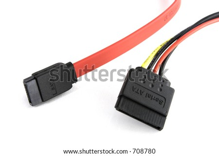power and data serial ata cables together