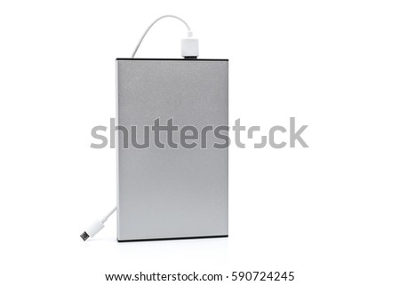Power bank /Battery bank isolated on white background #590724245