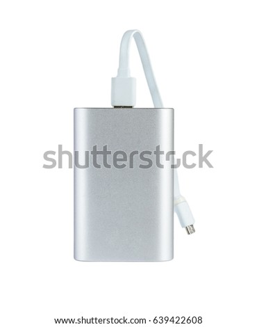 Power bank isolated on a white background .
