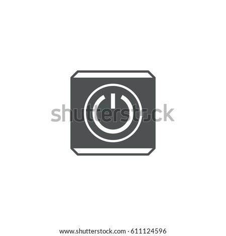 power button icon. sign design #611124596