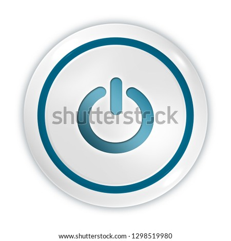 power button isolated. 3d illustration  #1298519980