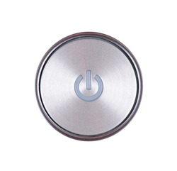 power button isolated on white background