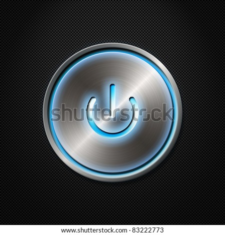 Power button on carbon fiber background