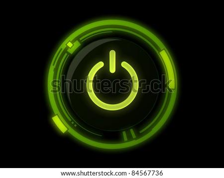 Power button on green light