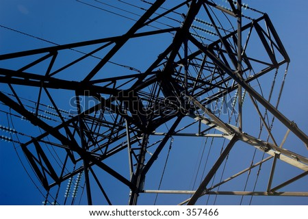 Power Cable Tower from the bottom