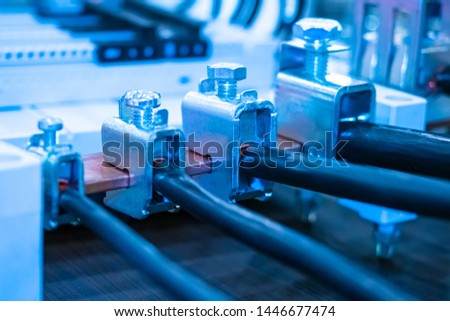 Power cables with copper conductors. Cable with allowable temperature of heating during exploitation. Cable product. Cable insulation. #1446677474