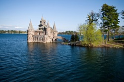 Power house - a part of Boldt Castle located on Heart Island in thousand islands on St. Lawrence River