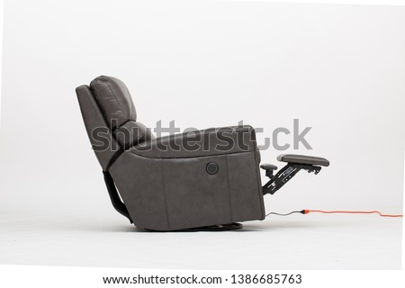 Power Leather Recliner Chair with white background ストックフォト ©