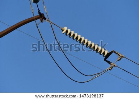 Power Lines and Power Line Insulator #1473198137