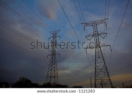 Power-lines at dusk
