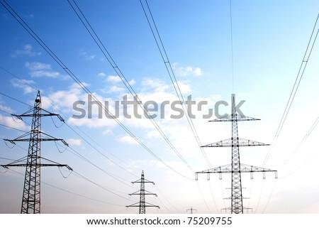 Power Mast - stock photo