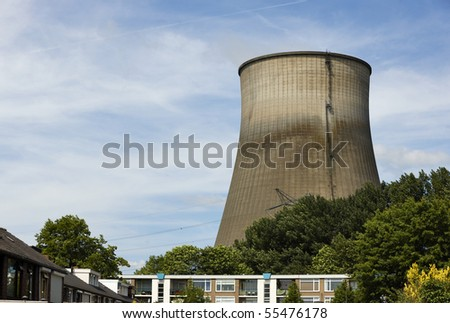 Power plant for electricity near residential area
