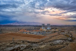 Power Plant in the South of Iran taken in January 2019 taken in hdr